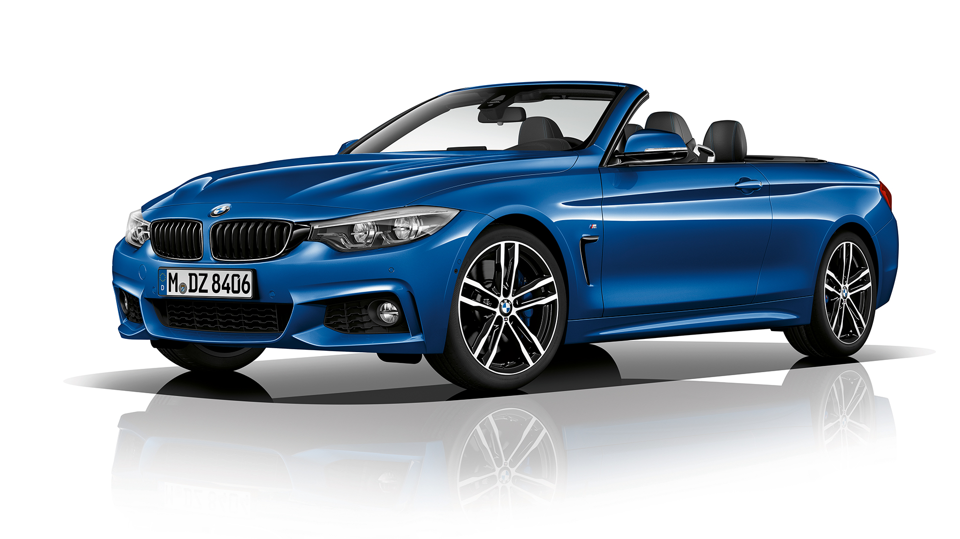 BMW 4 Series Cabriolet, Model M Sport three-quarter front shot