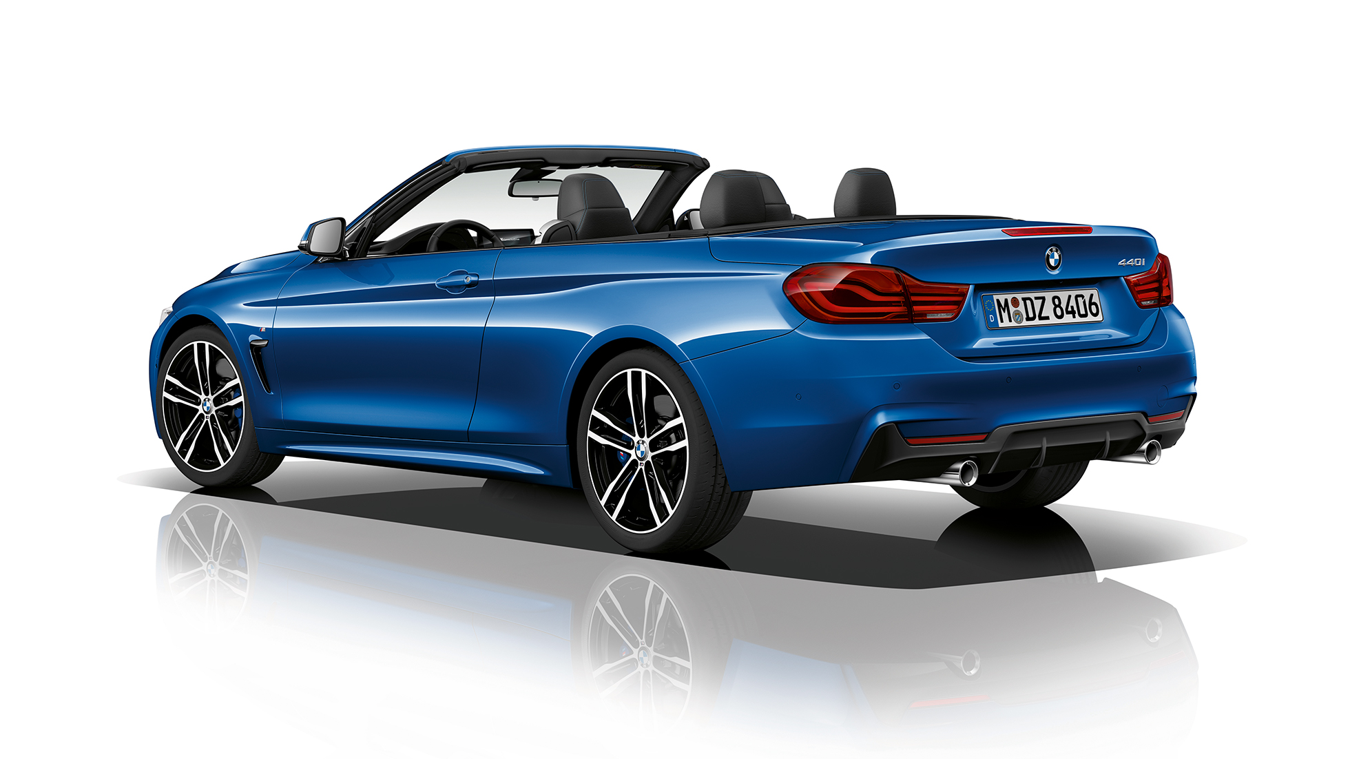 BMW 4 Series Cabriolet, Model M Sport three-quarter rear shot