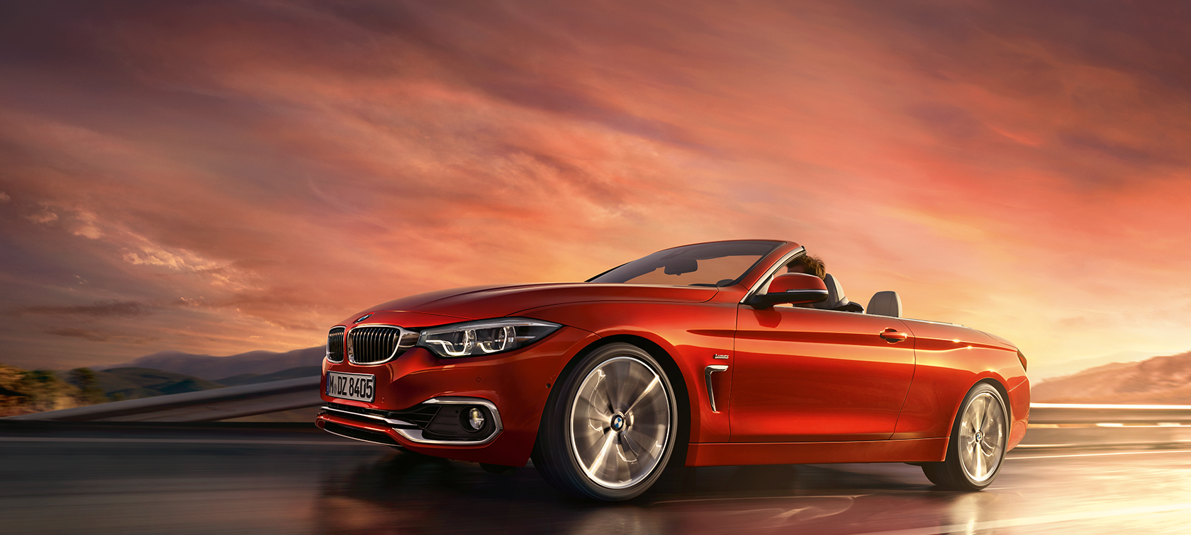 BMW 4 Series Cabriolet driving shot