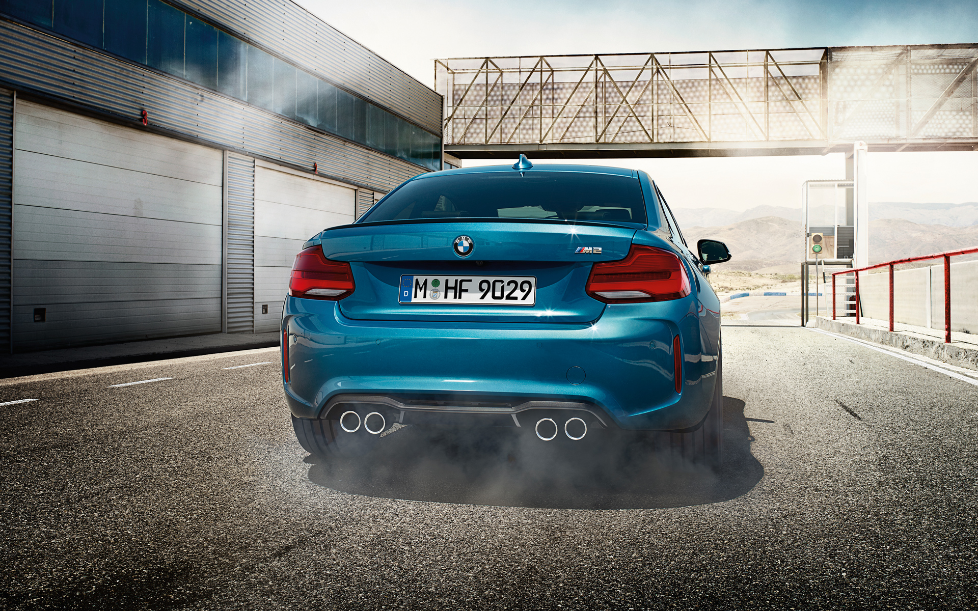 Rear Side Exterior Shot of a 2015 M2 Coupe