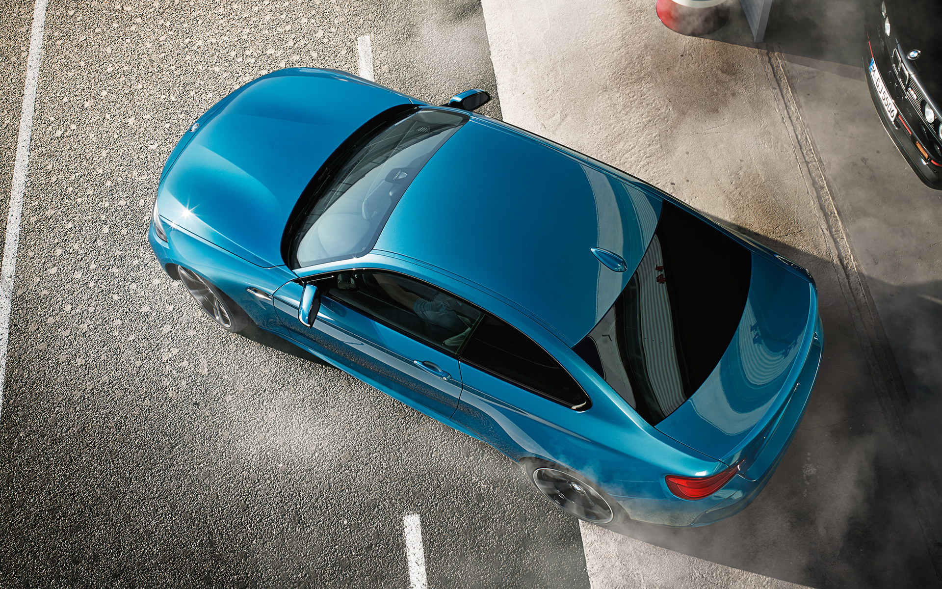 Aerial Exterior Shot of a 2015 M2 Coupe