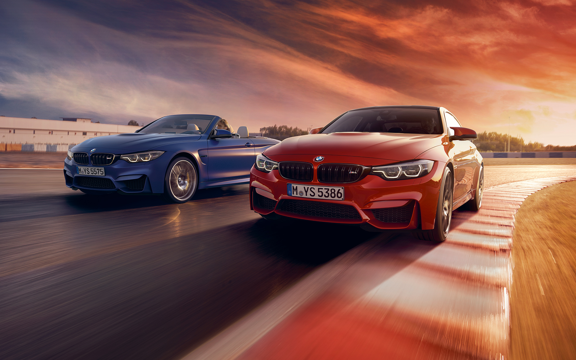 BMW M4 Coupé and M3 Sedan - Front View