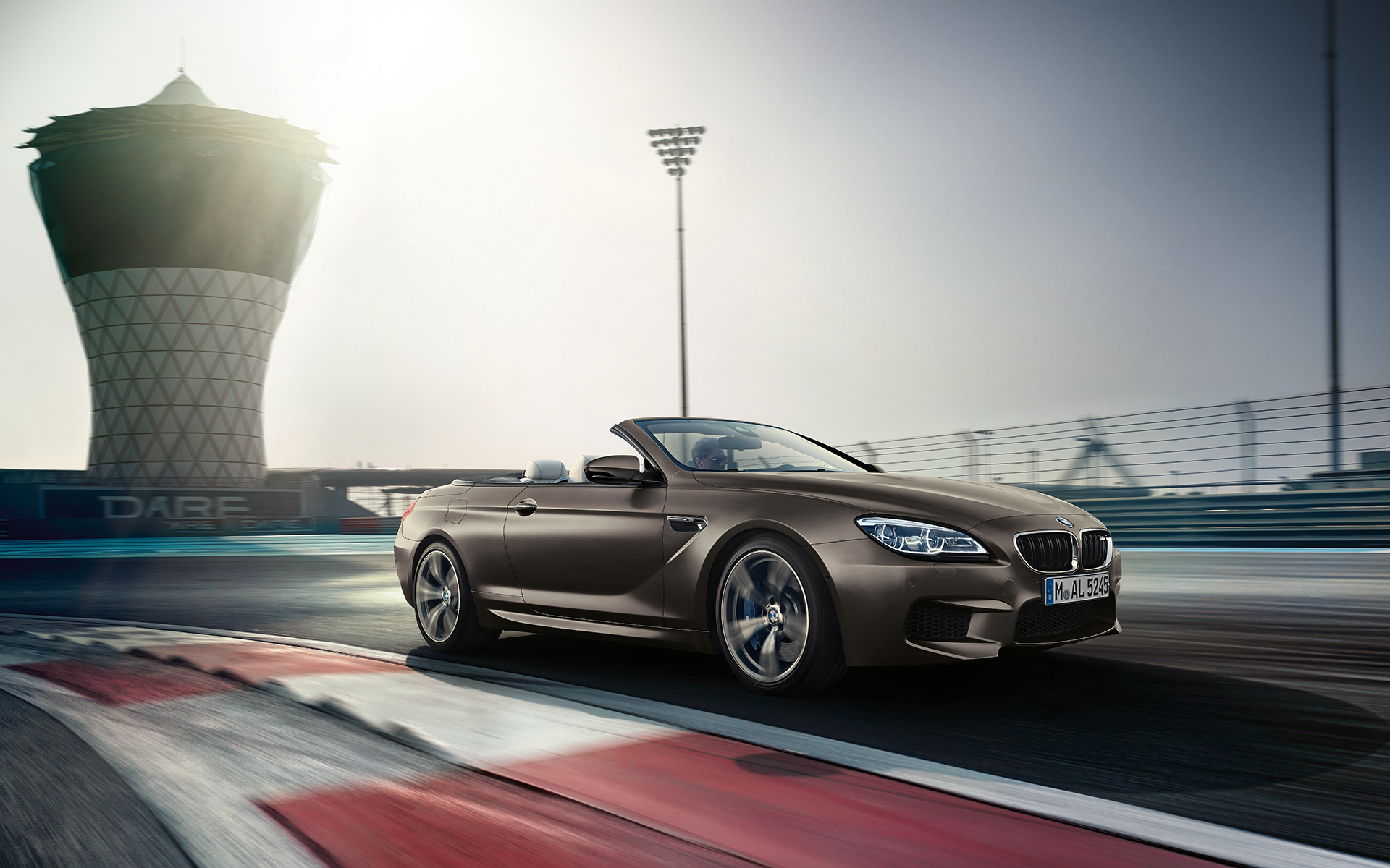 BMW M6 Cabriolet Side View racetrack driving