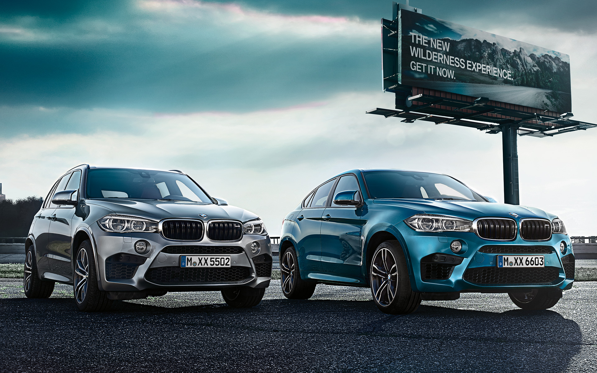 BMW X5 M and X6 M - Front View
