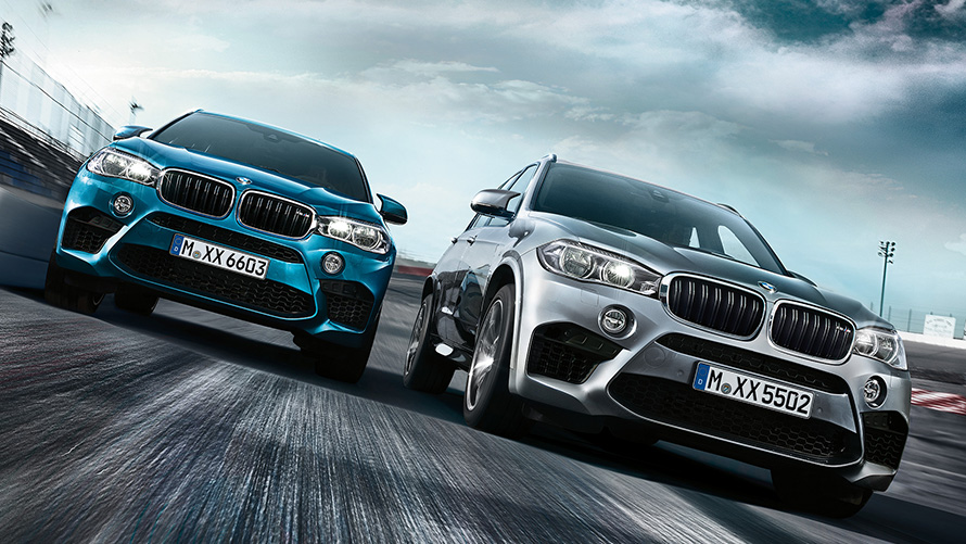 BMW X5 M and X6 M - Front View racetrack driving