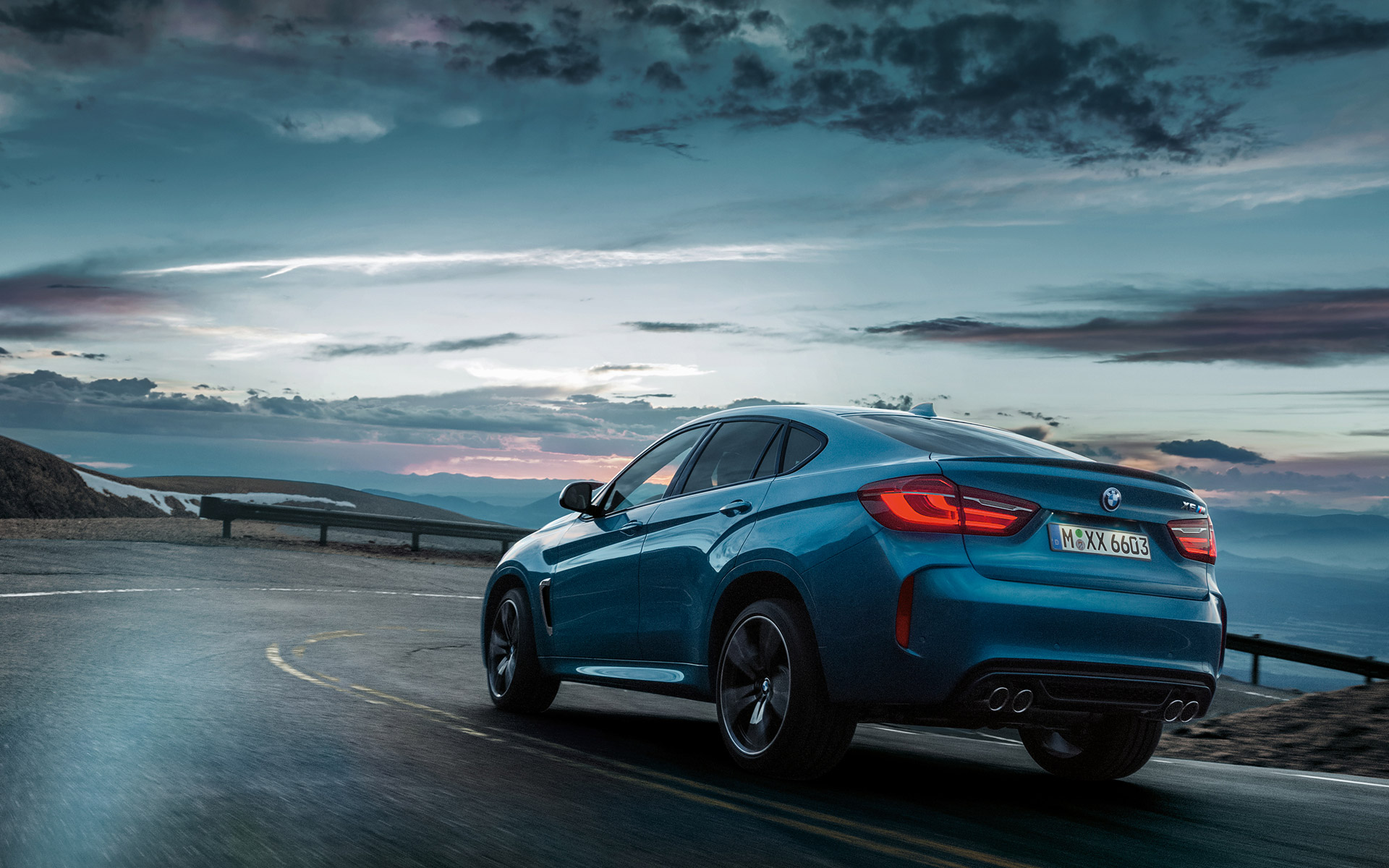 BMW X6 M Rear View hill driving