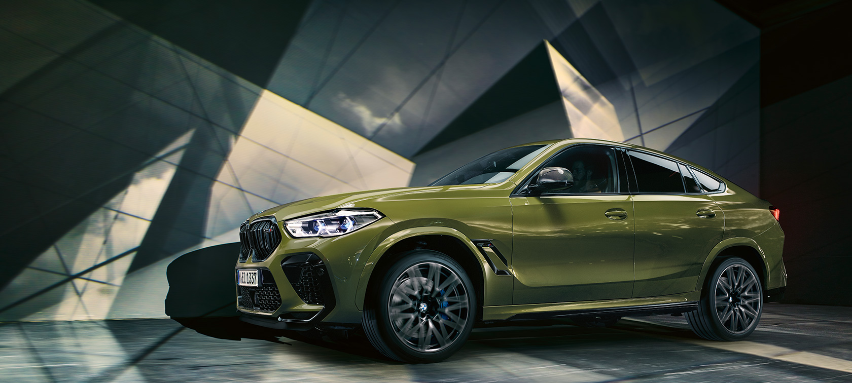 The all-new BMW X6 M Models BMW Individual Special Paint Urban Green F96 2020