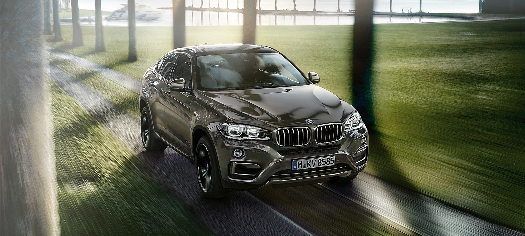 BMW X6 - Carrosserie marron - Vue de face
