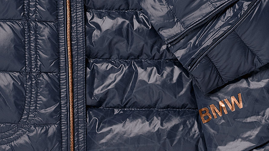 BMW Collection: women's soft down jacket.