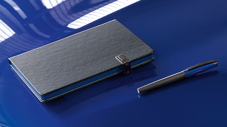 BMW M Rollerball and Notebook.