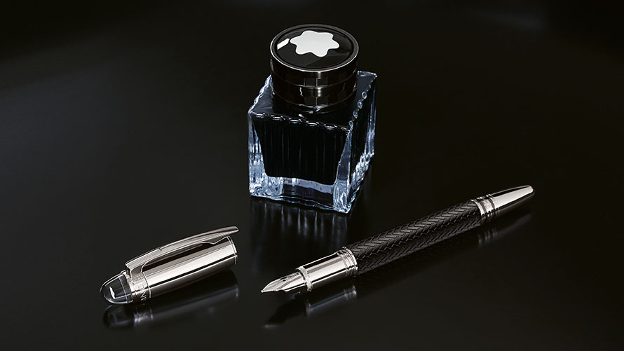 Montblanc for BMW Ink Well and Fountain Pen.