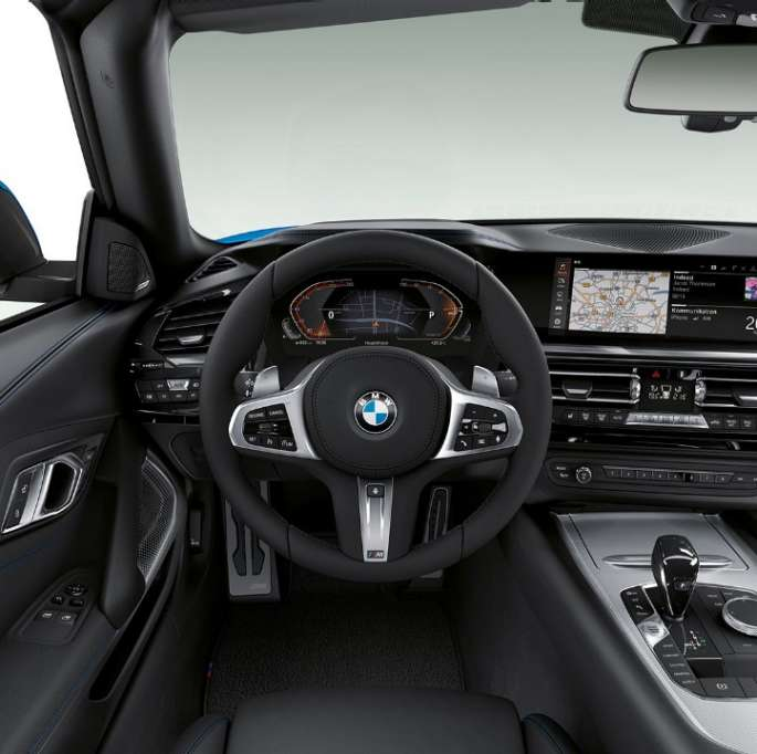 BMW Z4 Roadster M Sport Package, steering wheel and driver's place.