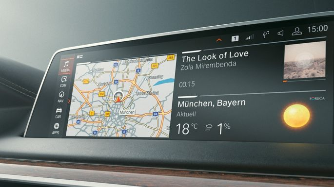 BMW Série 7 Berline : Microsoft Office 365 sur le Control Display